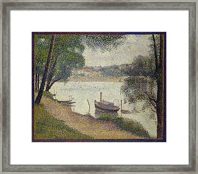 Gray Weather Framed Print by Georges Seurat