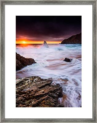 Gray Whale Cove Framed Print by Alexis Birkill