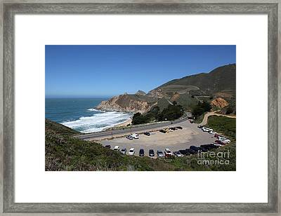 Gray Whale Cove State Beach Montara California 5d22616 Framed Print by Wingsdomain Art and Photography