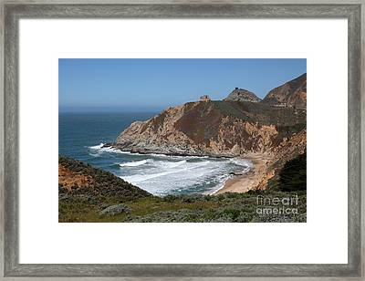 Gray Whale Cove State Beach Montara California 5d22618 Framed Print by Wingsdomain Art and Photography