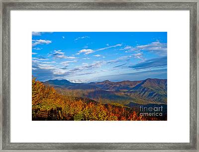 Framed Print featuring the photograph Graybeards Mountain by Debra Crank