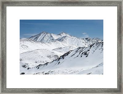 Grays And Torreys From Loveland Ski Area Framed Print by Aaron Spong