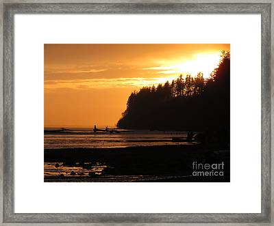 Grays Harbor Sunset I Framed Print
