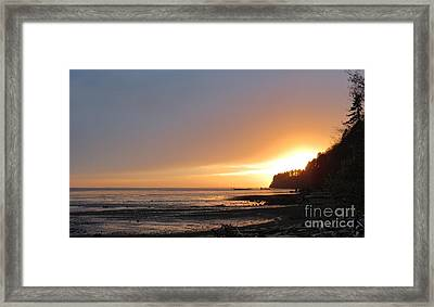Grays Harbor Sunset II Framed Print