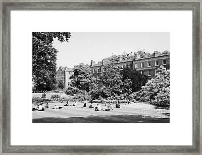 grays inn field and gardens London England UK Framed Print by Joe Fox