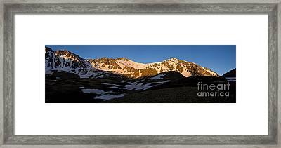 Grays Peak And Torreys Peak Panorama Framed Print by Benjamin Reed