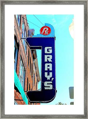 Gray's Rx Framed Print by Anthony Jones