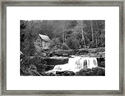 Framed Print featuring the photograph Grayscale Mill And Waterfall by Robert Camp