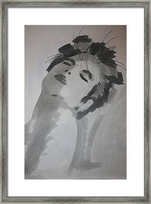 Framed Print featuring the drawing Graytone by Steve Godleski