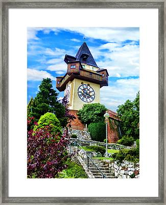 Graz Clock Tower Framed Print