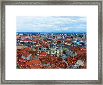 Graz Old Town Framed Print