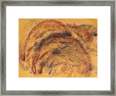 Grazing Bears Framed Print