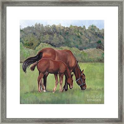 Grazing Framed Print by Charlotte Yealey