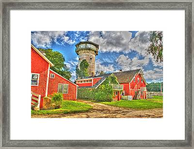 Grazing Fields Farm Bourne Cape Cod Framed Print