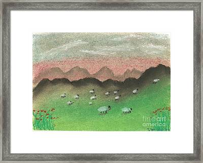 Grazing In The Hills Framed Print