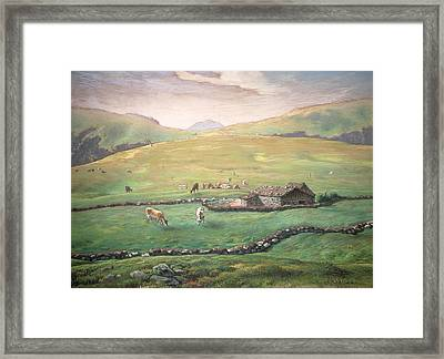 Grazing In The Vosges Framed Print