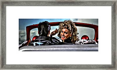 Grease Framed Print by Florian Rodarte
