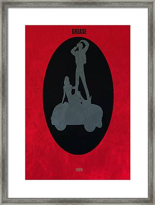 Framed Print featuring the digital art Grease Movie Poster by Brian Reaves
