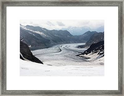 Great Aletsch Glacier Framed Print by Dr Juerg Alean