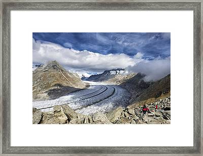 Great Aletsch Glacier Swiss Alps Switzerland Europe Framed Print