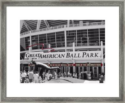 Great American Ball Park And The Cincinnati Reds Framed Print