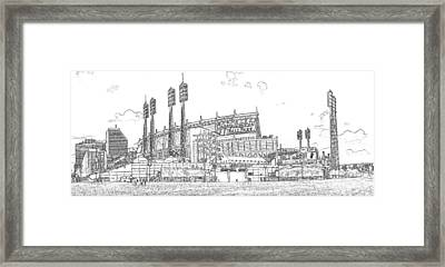 Great American Ball Park Line Framed Print