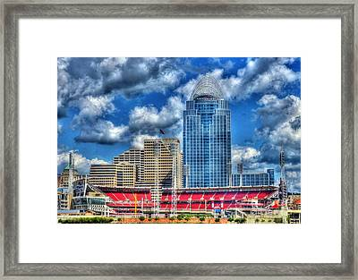 Great American Ballpark Framed Print by Mel Steinhauer