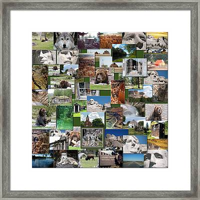 Great American Outdoors Collage Square Framed Print by Thomas Woolworth