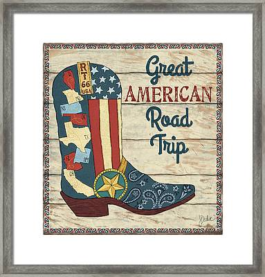 Great American Road Trip Framed Print by Jacqueline Decker