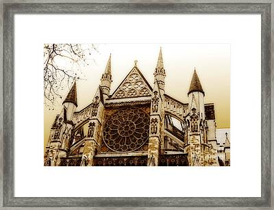 Great Architecture Westminster Abbey Framed Print by MaryJane Armstrong