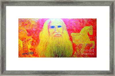 Great Artists Leonardo Da Vinci 1 Framed Print by Richard W Linford