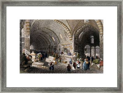 Great Avenue In The Tchartchi, 1850 Framed Print by William Henry Bartlett