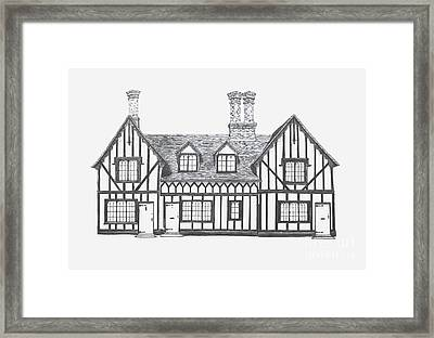 Great Bardfield St Johns Terrace Framed Print by Shirley Miller