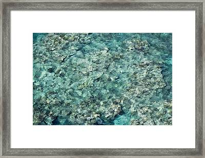 Great Barrier Reef Texture Framed Print