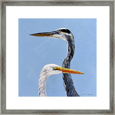 Great Blue And White Framed Print