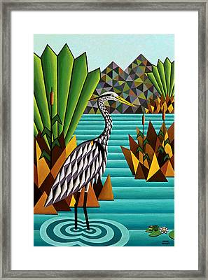 Great Blue Heron Framed Print by Bruce Bodden