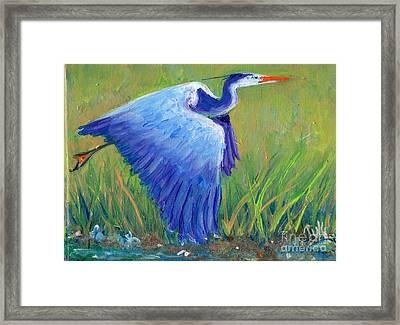 Great Blue Heron Mini Painting Framed Print