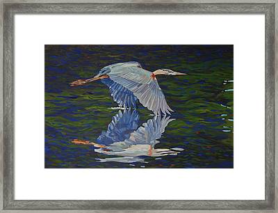 Great Blue Reflections Framed Print by Phil Chadwick