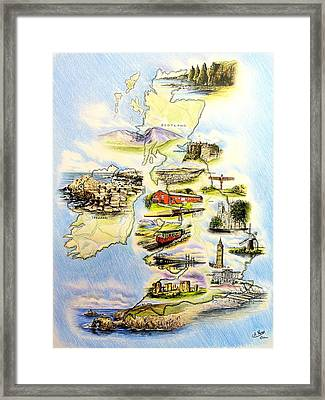 Great Britain And Ireland Framed Print by Andrew Read