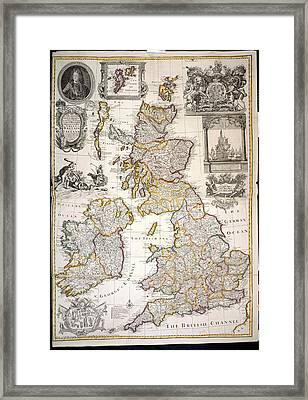 Great Britain And Ireland Framed Print