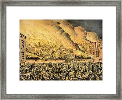 Great Chicago Fire, 1871 Framed Print by Science Photo Library