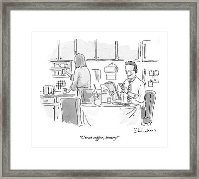 Great Coffee Framed Print by Danny Shanahan