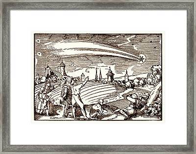 Great Comet Of 1577 Framed Print by Detlev Van Ravenswaay