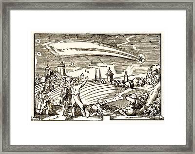 Great Comet Of 1577, Historical Artwork Framed Print