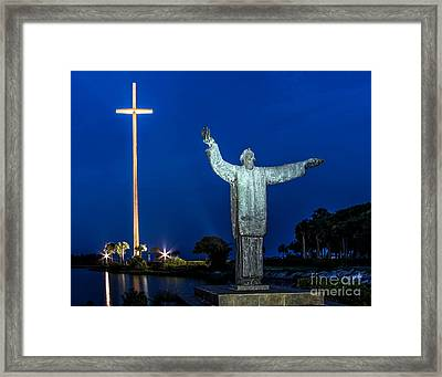 Great Cross St. Augustine Framed Print by Scott Moore