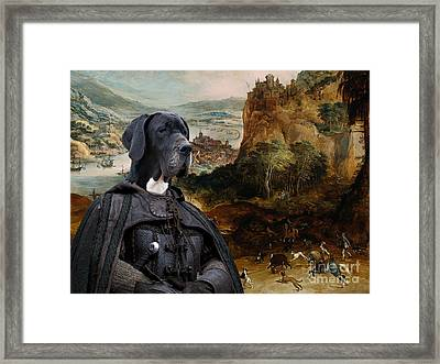 Great Dane Art - The Boar Hunt Framed Print