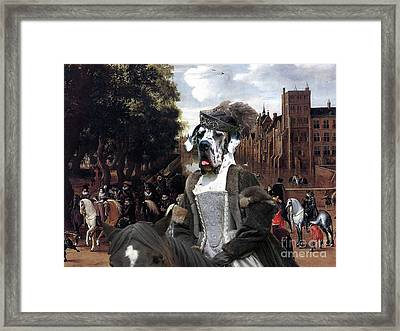 Great Dane Art - The Royal Procession Framed Print by Sandra Sij