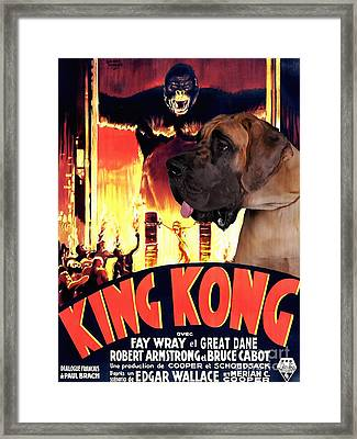 Great Dane Art Canvas Print - King Kong Movie Poster Framed Print by Sandra Sij