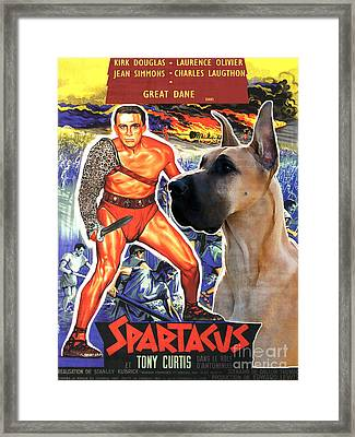 Great Dane Art Canvas Print - Spartacus Movie Poster Framed Print by Sandra Sij