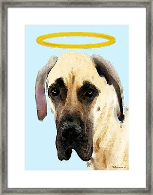 Great Dane Art - I Didn't Do It Framed Print by Sharon Cummings